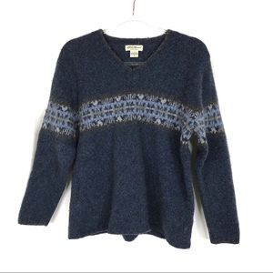 Eddie Bauer | Navy Lambswool Sweater